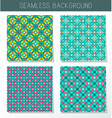 Four beautiful summer seamless ornament vector image