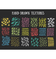 Hand drawn textures Isolated vector image vector image
