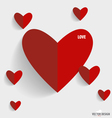 Happy Valentines Day paper hearts vector image vector image
