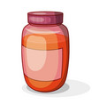 honey in jar a bright colored cardan drawing vector image vector image