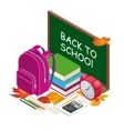 Isometric concept Back to school background vector image vector image