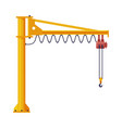 jib crane elevating construction equipment flat vector image