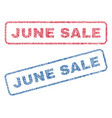 june sale textile stamps vector image vector image
