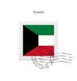 Kuwait Flag Postage Stamp vector image vector image