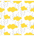 light yellow snowy clouds seamless pattern vector image