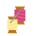 materials for sewing isolated icon vector image