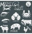 Meat menu vector image vector image