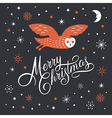 Merry Christmas Lettering Christmas vector image vector image