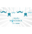 movember raise awareness mens health issues vector image vector image