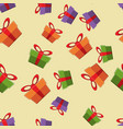 pattern gift box for fabric print wrapping packag vector image vector image