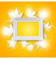 photo frame with abstract autumn leaves vector image vector image