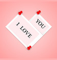 photo frames with text in the form of heart vector image