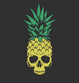pineapple like a skull vector image