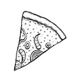 pizza hand drawn vector image vector image
