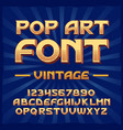 pop art vintage typeface vector image
