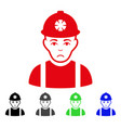 sad miner icon vector image vector image