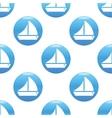 Sailing ship sign pattern vector image vector image