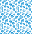seamless of blue circle pattern vector image vector image