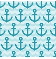 Seamless pattern with anchor on blue wave vector image