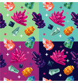 seamless pattern with color crystalls vector image vector image