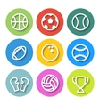 Set of Flat Sports Icons vector image vector image