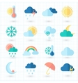 Set of weather icons on blueprint vector image