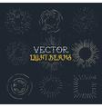 Setof 9 vintage hand drawn ray frames starburst vector image vector image