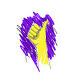 thumbs up sketch best buy best choice vector image