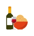 Traditional food icon Italy culture design vector image