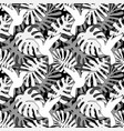 tropical leaves seamless pattern endless vector image vector image