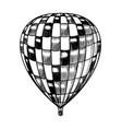 vintage hot air balloon retro flying vector image vector image