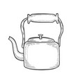 vintage metallic kettle vector image
