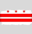 washington dc city flag vector image vector image