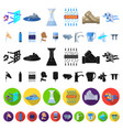 water filtration system cartoon icons in set vector image vector image