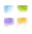 watercolor style colorful backgrounds vector image vector image