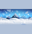 winter mountain forest landscape background pine vector image