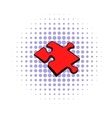 Puzzle icon comics style vector image
