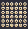 36 icons for web apps and other projects vector image vector image