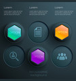 abstract web options infographics vector image vector image