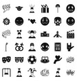 bad emotion icons set simple style vector image vector image