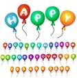 Balloons alphabet vector | Price: 1 Credit (USD $1)
