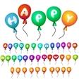 balloons alphabet vector image vector image