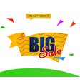 banner big sale vector image vector image