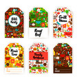 barbecue gift tag set vector image