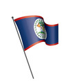 belize flag on a white vector image