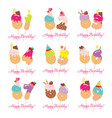 birthday card set festive sweet numbers from 81 vector image vector image