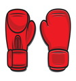 boxing gloves4 vector image