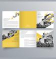 brochure design 582 vector image