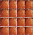Brown ceramic floor texture vector image vector image
