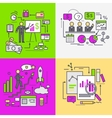 Business Data Analysis and Planning Startup vector image vector image